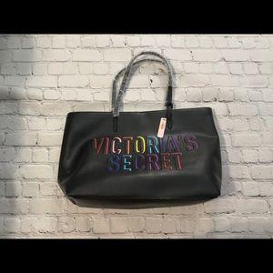 NWT Victoria's Secret VS Tote Rainbow 3 Pockets🔥